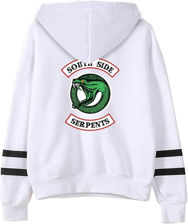 JOAYIN Kinder Teenager Kapuzenpullover Riverdale Southside Serpents Pulli f/ür M/ädchen und Jungen Einfarbiger Freizeit Pullover mit Alphabet Logo