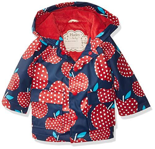 Dot Polka Baby Jacket - Hatley Baby Girls Printed Raincoats, Polka dot Apples, 9-12 Months