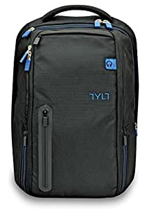 TYLT Powerbag Travel Battery Charging Backpack: Laptop Computer Bag Power Bank - USB Charger for Phones and Tablets
