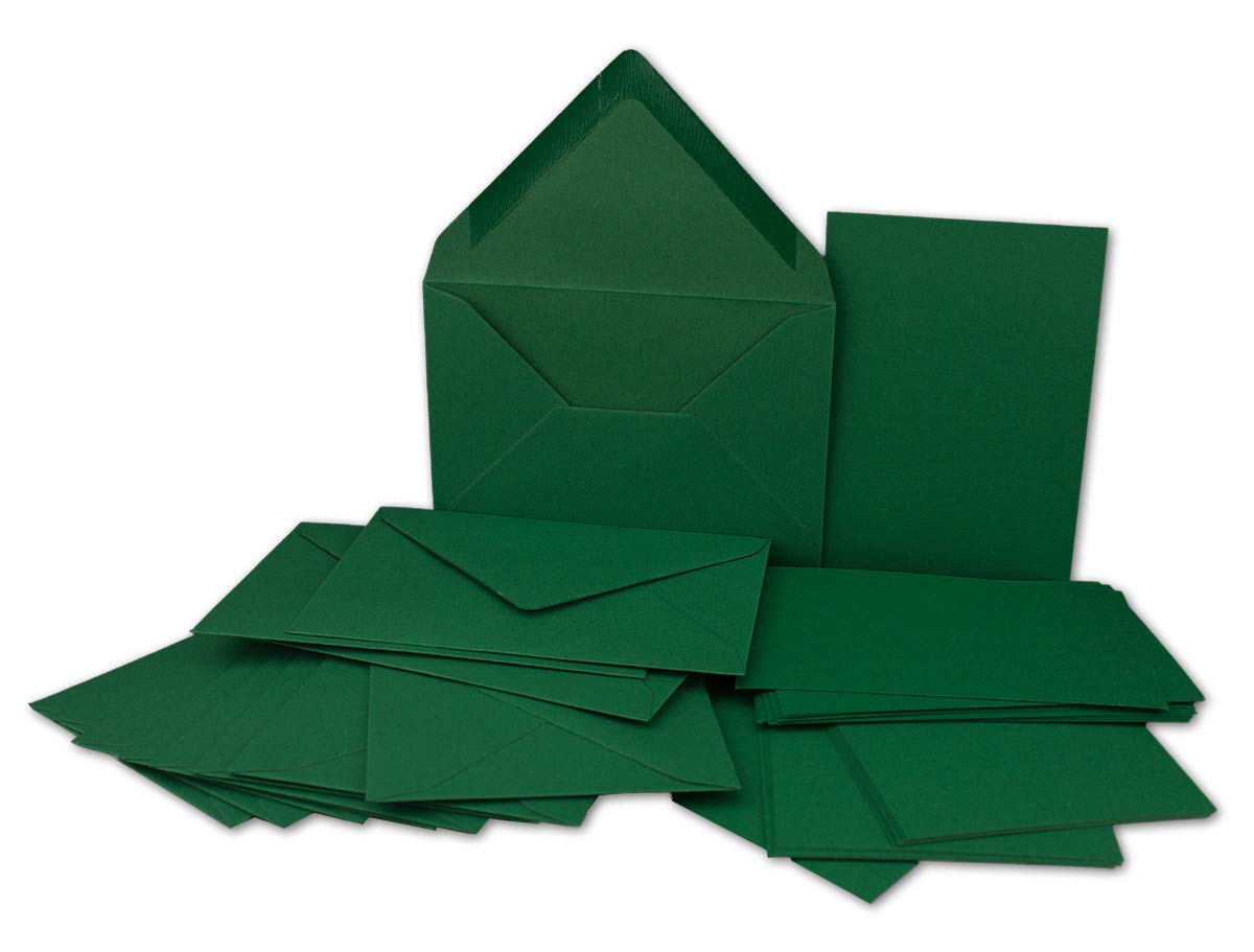 100x St/ück Karte-Umschlag-Set Einzel-Karten Din A7 10,5x7,3 cm 240 g//m/² Rosa mit Brief-Umschl/ägen C7 Nassklebung ideale Geschenkanh/änger