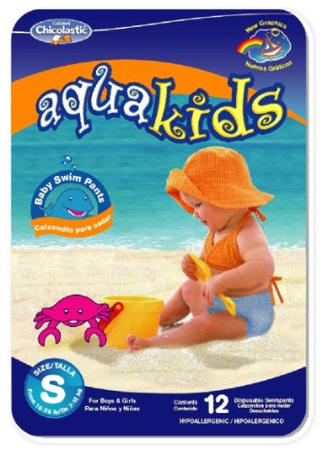 AquaKids Swim Pants for Boys & Girls, Large Size, 32-40 Pounds (80-Count Swim Pants)