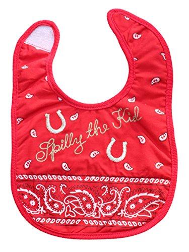 Western Bandana Spilly The Kid Baby Infant Bib (Red)