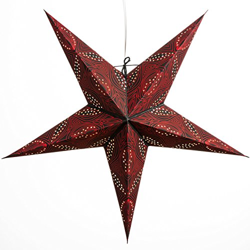 Morse-Code-Paper-Star-Lantern-with-12-Foot-Power-Cord-Included
