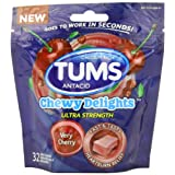 Tums Chewy Delights Soft Chews, Very Cherry, 32 Count
