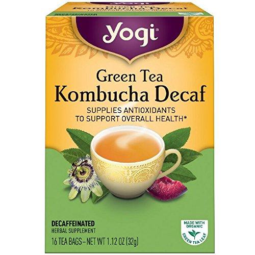 Yogi Green Tea Kombucha Decaf, 16 ct (Yogi Green Tea Free Caffeine)