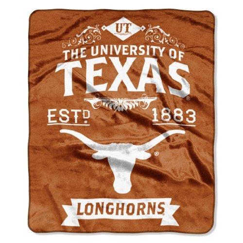 - Northwest NCAA Texas Longhorns College Label Raschel 50 x 60