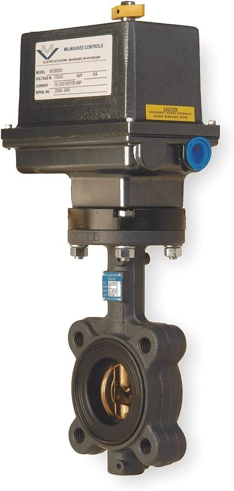 Electric Size 6 In Milwaukee Valve Butterfly Valve GLC33E 6