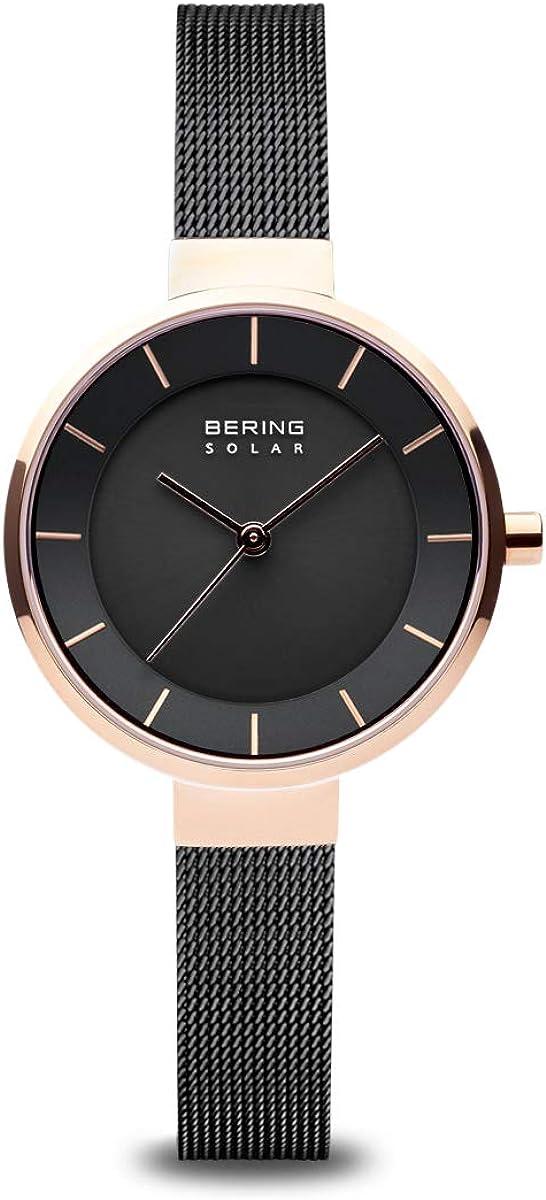 BERING Reloj Analógico para Mujer de Energía Solar con Correa en Acero Inoxidable 14631-166