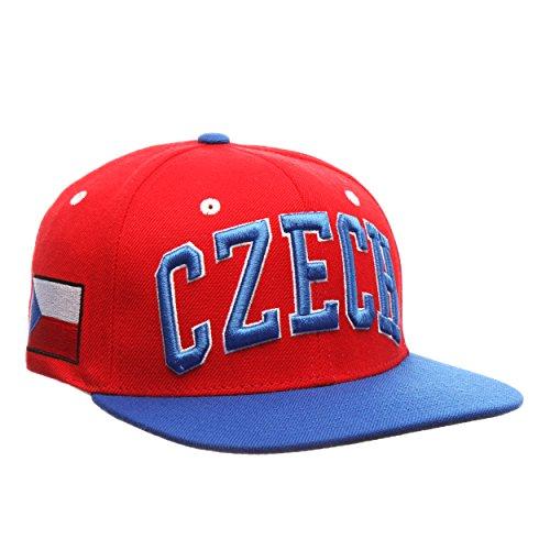 (Zephyr Country Flag Adjustable Soccer Superstar Snapback Cap - Flat Bill Zephyr Baseball Hat (Czech Republic))