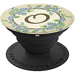 Floral Monogram Letter O - Cute Monogrammed Gift For Women - PopSockets Grip and Stand for Phones and Tablets