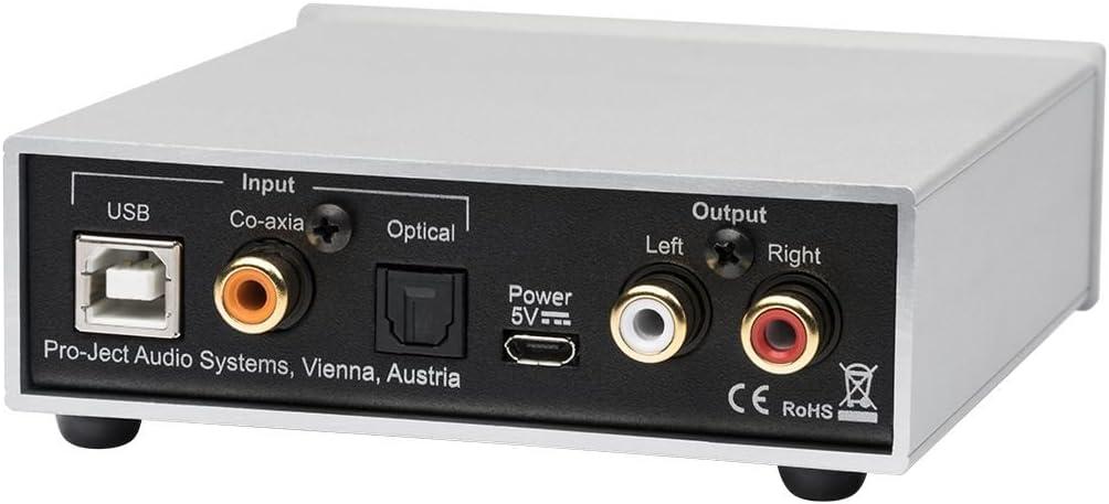 Pro Ject Pre Box S2 Digital Audiophiler Stereo Vorverstärker Silber Audio Hifi