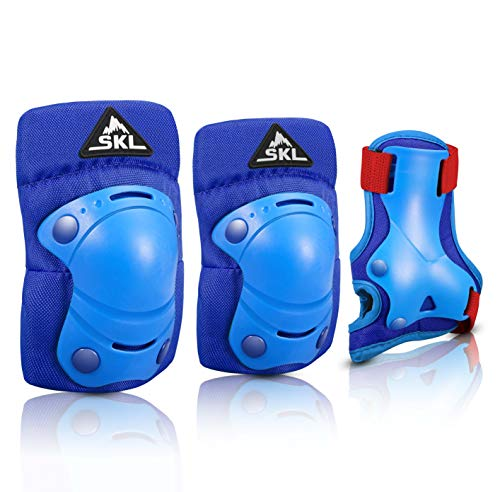 Cycling Responsible Knee Pads/elbow Pad Optimiz Child Blue pr