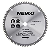 Neiko 10769A 14-Inch 80-Tooth Circular Miter Saw Blade with Carbide Tips, Heavy Duty