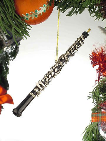 Black Music Oboe Musical Instrument Ornament NEW by Broadway Gifts New Oboe