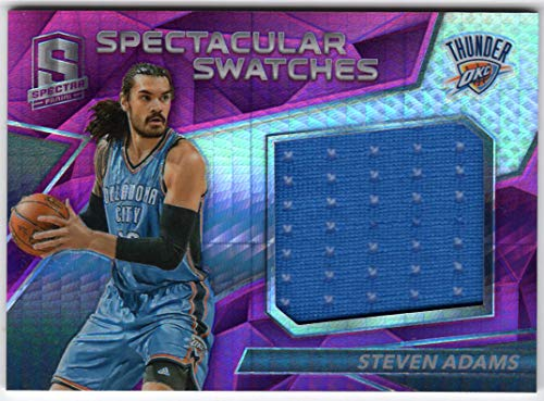 Steven Adams 2016-17 Panini Spectra Spectacular Swatches Pink Prizm Refractor Jersey Card Serial #06/49 Oklahoma City Thunder