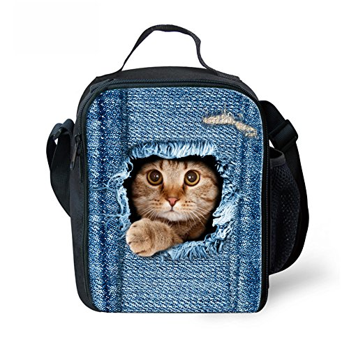 UNICEU Cool Pet Cat Children Lunchbag Cooler Box Thermal Lunchbox Tote Portable Large -