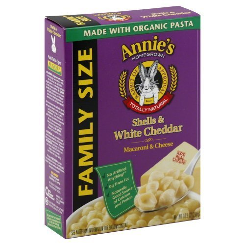 Annie's Homegrown Shells & White Cheddar Macaroni & Cheese 6-Ounce (Pack of 3) by Annie's ()