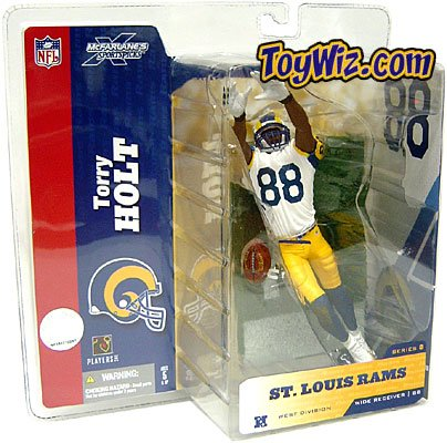 McFarlane Toys NFL Sports Picks Series 8 Action Figure Torry Holt (St. Louis Rams) White Jersey #88 Yellow Pants Retro Variant