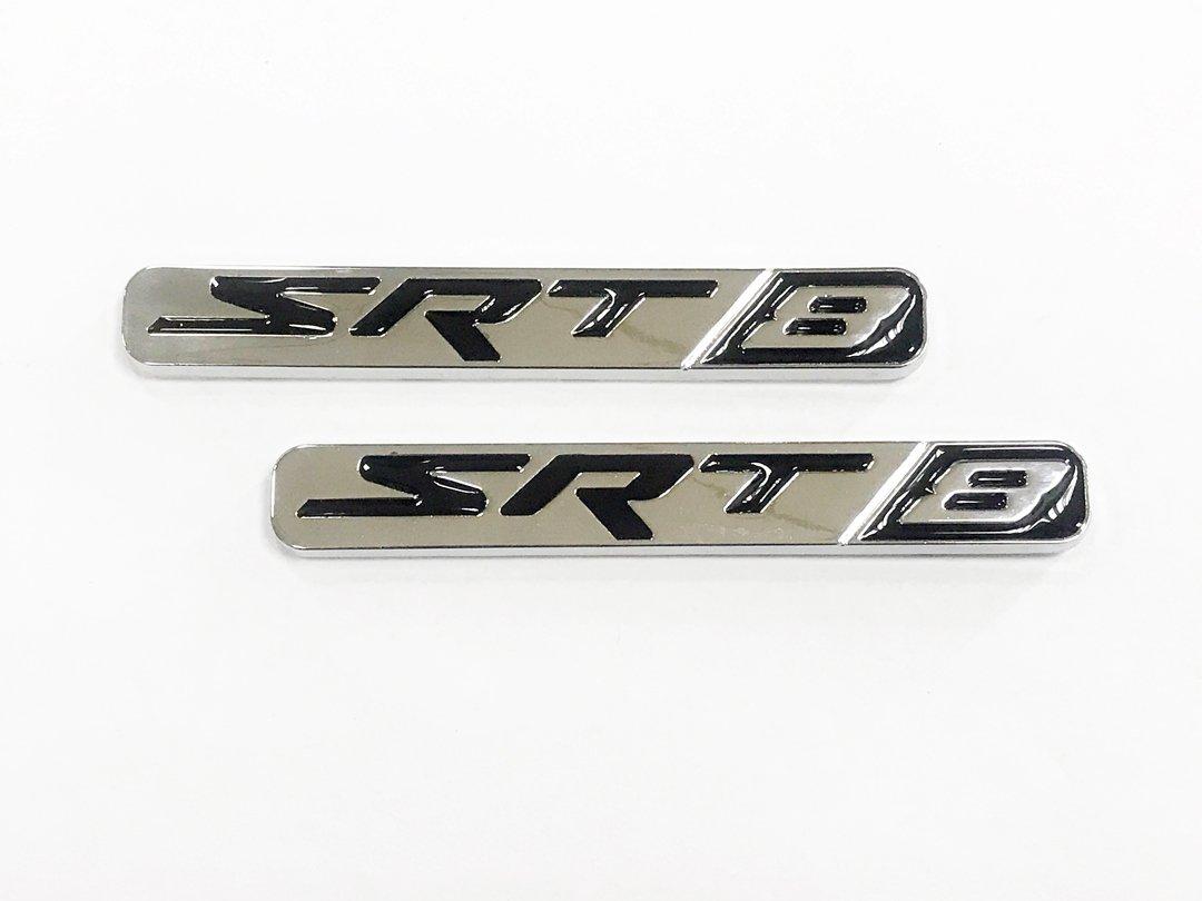 Dian Bin-The Red+Black SRT Metal Sticker Vehicle-logo Badge Emblem for Dodge Available