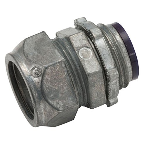 Emt Diecast Zinc Compression Connector - Hubbell-Raco 2835 Connector, Die Cast Zinc, EMT Compression, Insulated, 1-1/4