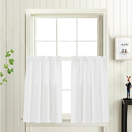 d Short Curtains for Bathroom Water Repellent Window Covering for Kitchen (72