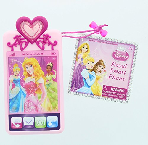 Disney Princess Royal Deluxe Toy Mobile Phone - Ariel, Aurora, Cinderella, Rapunzel, Snow White, Tiana
