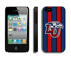Popular Protective Phone Stripe Case Cover for Iphone 4/4s Ncaa Liberty Flames Cheap Designer Cellphone Accessories