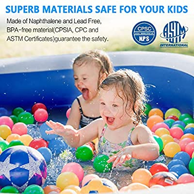 Taiker Inflatable Swimming Pool, Kiddie Pool, Family Lounge Pool, Family Swimming Pool for Kids, Adults, Babies, Toddlers, Outdoor, Garden, Backyard, 96 x 57 x 21 in: Garden & Outdoor