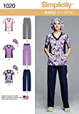 Simplicity Easy To Sew Scrubs Sewing Pattern For
