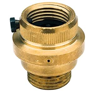 Watts 8FR Hose Connections Vacuum Breaker with Freeze Relief, Brass