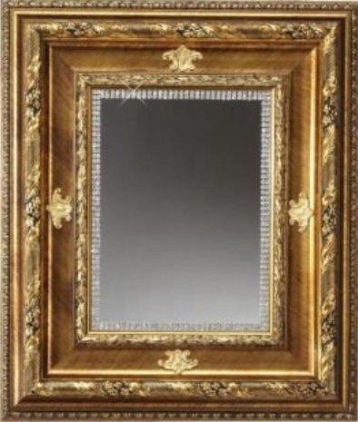Swarovski Wall Mirror - Italian Large Wall Mirror Gold Trim With authentic Swarovski Crystal Border