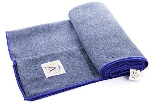 The Vita Beata 24-Inch-by-72-Inch Microfiber Yoga Mat Towel with Zipper Pocket and Box