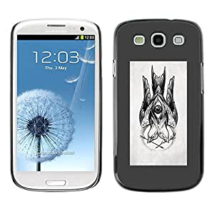 Planetar® ( Sketch Grey Drawing Ink Pencil Black ) SAMSUNG Galaxy S3 III / i9300 / i747 Fundas Cover Cubre Hard Case Cover