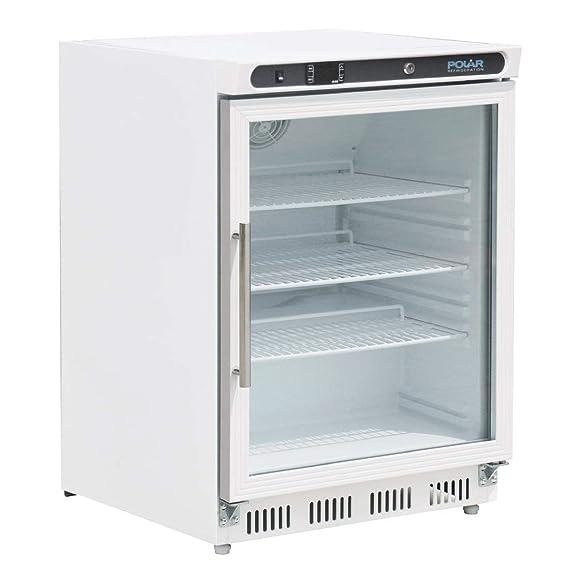 Polar CD086 puerta de cristal pantalla frigorífico, 150 L: Amazon ...