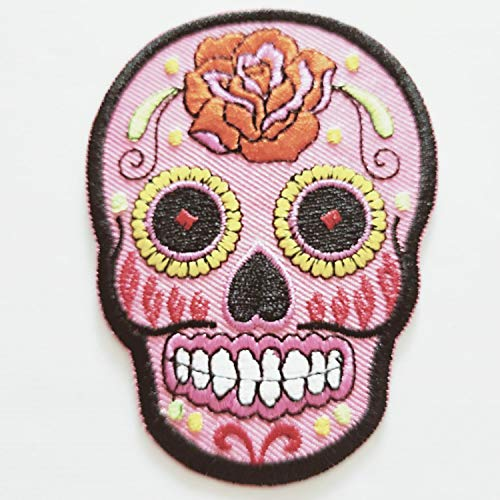 Dead Ghost Lady Rock Punk Retro Music Band Rose Bike Flower Sugar Skull Rider Biker Horror Sew Iron On Embroidered Patch Applique