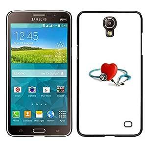 LECELL--Funda protectora / Cubierta / Piel For Samsung Galaxy Mega 2 -- Corazón de los anillos de compromiso Casado --