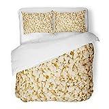 SanChic Duvet Cover Set Cinema Popcorn Corn Crisp Food Movie Notch Decorative Bedding Set with Pillow Sham Twin Size