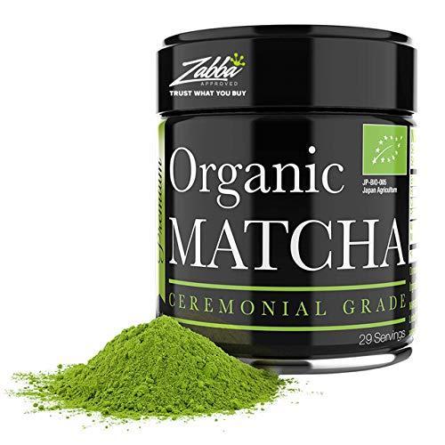 Matcha Ceremonial - Te verde matcha organico en polvo - 1oz - Matcha japones de alta calidad - Perfecto para la ceremonia del te y la limpieza holistica - Te 100% organico - Aumenta la vitalidad
