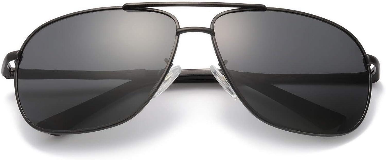 OSVAW Gafas de Sol Hombre Polarizadas Marco Metal Con las Bisagras del Resorte Para Conducción Pesca 100% UVA UVB Protección