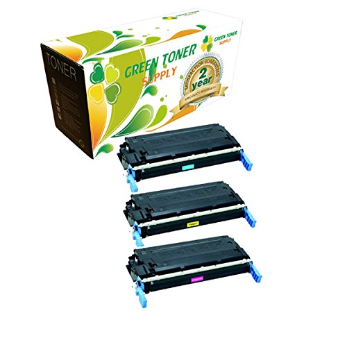 Green Toner Supply™ Remanufactured Toner Cartridge Replacement for HP Q5951A Q5952A Q5953A (1 Cyan, 1 Yellow, 1 Magenta, 3-Pack)