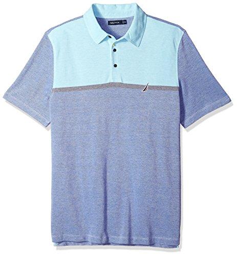 - Nautica Men's Short Sleeve Colorblock Cotton Oxford Pique Polo Shirt, Monaco Blue, X-Large