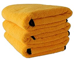 Cobra Gold Plush Microfiber Towel, 16 x 24 inches - 3 pack