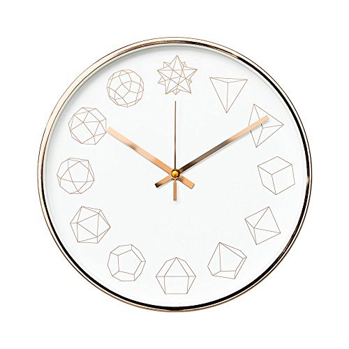 "Arospa Luxury Modern 12"" Silent Non-Ticking Wall Clock with Rose..."