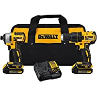 DEWALT DCK277C2 20V MAX Compact Brushless Drill and...