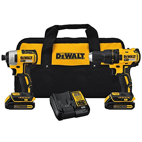 DEWALT DCK277C2 20V MAX Compact Brushless Drill and Impact Combo ()