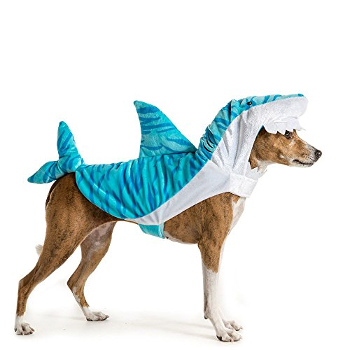 Shark Costumes Pet (Thrills & Chills Pet Halloween Shark Pet Costume)