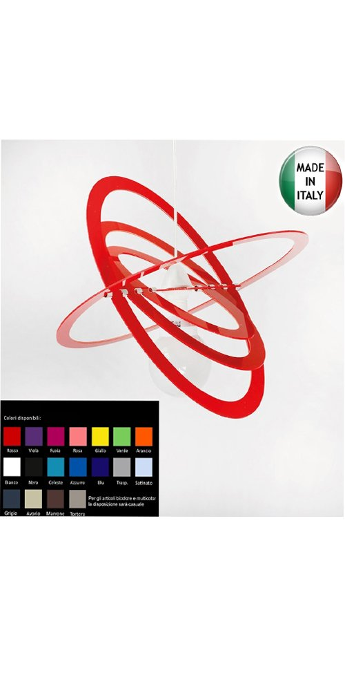 Lampadario Moderno Elios Plexiglass vari colori 1xE27 220-240V - Senza marca/Generico