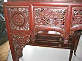 antique carved canope of the opium or wedding bed, partially gilded, with auspicious animals, Qing DynastyAge: circa 1750-1800Suzhou category, opposite to Beijing category, characterized by elaborate decoration, developed from early Q...
