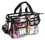 Cosmetic Bag Set Seya Makeup Artist Clear PVC Set Bag w/ Removable Shoulder Strap (Black)