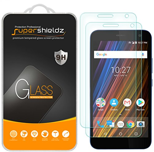 (2 Pack) Supershieldz for Cricket Wave Tempered Glass Screen Protector, Anti Scratch, Bubble - Cricket Protector Screen